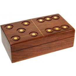 Sheesham Wood Domino Box
