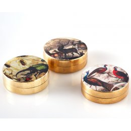 Decorative Metal Pill Boxes - Set of 3