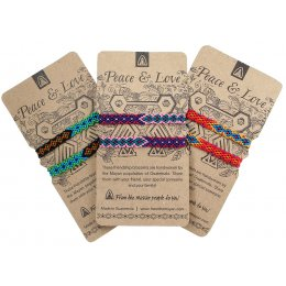 Fair Trade Peace & Love Friendship Bracelets - Set of 2