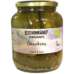 Essential Trading Organic Sweet & Sour Gherkins - 680g