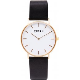 Votch Classic Collection Vegan Leather Watch - Black & Gold