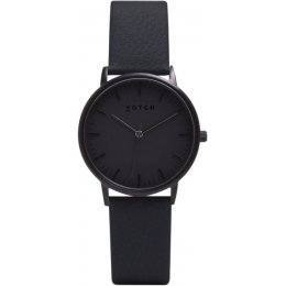 Votch New Collection Vegan Leather Watch - All Black