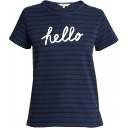 People Tree Organic Hello T-shirt - Navy Stripe