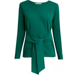 People Tree Organic Pippa Tie Top - Green