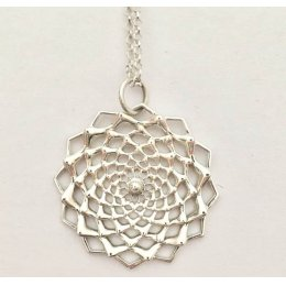 Inkana Silver Flower Necklace