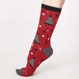 Thought Merry Christmas Tree Bamboo Socks