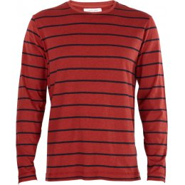Thought Karl Stripe Tee - Rust