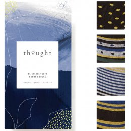 Thought Mens Spot & Stripe Bamboo Socks Gift Box