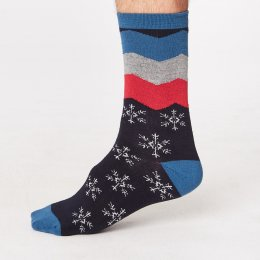 Thought Mens Snowflake Bamboo Socks