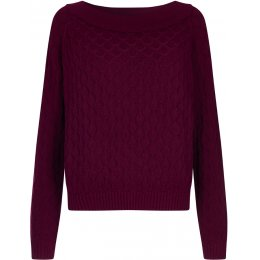 Komodo Fai Organic Cotton Jumper - Wine