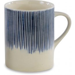 Karuma Blue & White Ceramic Mug - Tall