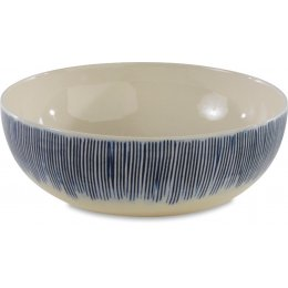 Karuma Blue & White Ceramic Serving Bowl