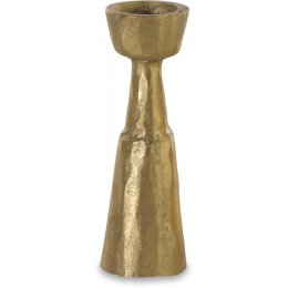 Jahi Brushed Gold Brass Candlestick - Large