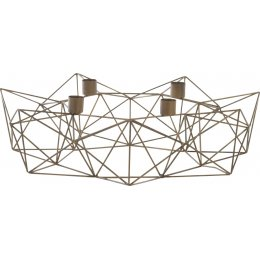 Derwala Antique Brass Geometric Candle Holder - Small