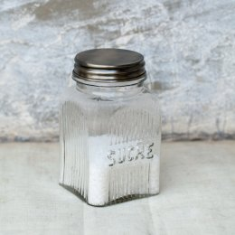 Glass Sucre Sugar Jar