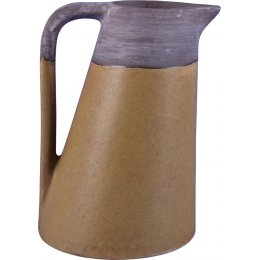 Samia Two-Tone Earthenware Jug - Yellow