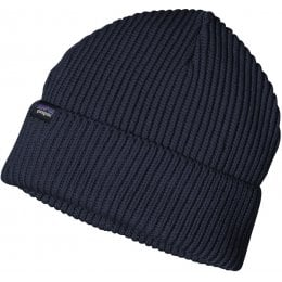 Patagonia Fishermans Rolled Back Beanie - Navy Blue
