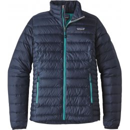 Patagonia Womens Down Sweater Jacket - Navy Blue