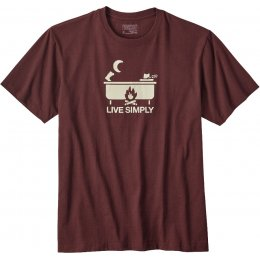 Patagonia Live Simply Hot Tub Responsibili-Tee - Dark Ruby