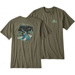 Patagonia Rainforest Fed Responsibili-Tee - Buffalo Green