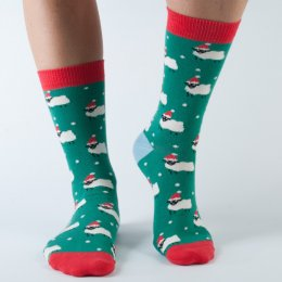 Doris & Dude Womens Christmas Sheep Bamboo Socks