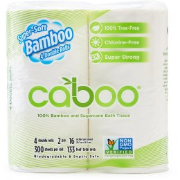 Caboo Bamboo & Sugarcane 3ply Toilet Roll - Pack of 4