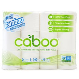 Caboo Bamboo & Sugarcane 2ply Toilet Roll - Pack of 24