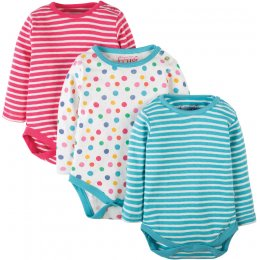 Frugi Luxury Pointelle Baby Body - Pack of 3