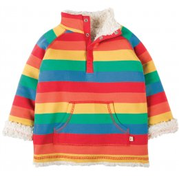 Frugi Little Snuggle Fleece - Rainbow Stripe