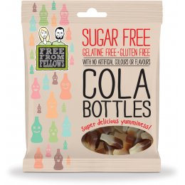 Free From Fellows Vegan Sugar Free Cola Bottle Sweets - 100g