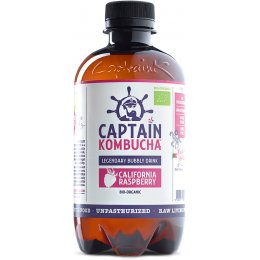 Captain Kombucha Bio-Organic Bubbly Drink - Raspberry - 400ml
