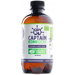 Captain Kombucha Bio-Organic Bubbly Drink - Coconut - 400ml