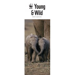 WWF Young & Wild 2020 Slim Wall Calendar