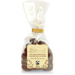 Divine 70 percent  Dark Chocolate Caramelised Almonds - 150g