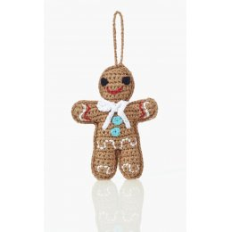 Knitted Gingerbread Man Christmas Decoration