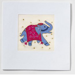 Handmade Indian Elephant Card