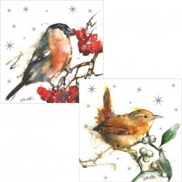 RSPB Winter Berries and Birds Christmas Cards - 10 pack