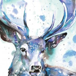 RSPB Christmas Starry Stag Cards - 10 pack