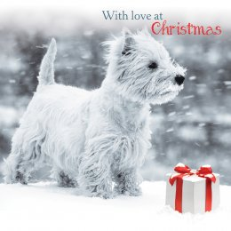 Snowy Westie Christmas Cards - 10 Pack
