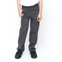 Boys Slim Fit School Trousers With Adjustable Waist 7yrs Plus