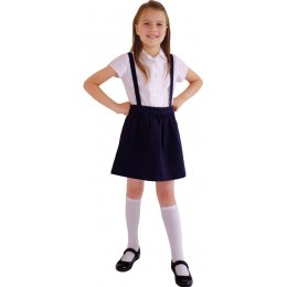 Navy Skirt with Braces - 3yrs Plus