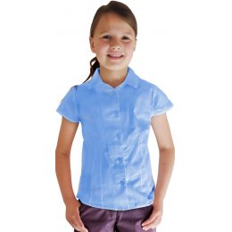 Blue Short Sleeve Blouse - 3yrs Plus