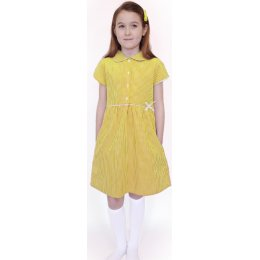 Organic Cotton Yellow Gingham Dress - 8yrs Plus