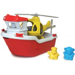 Green Toys Recycled Rescue Boat & Helicopter