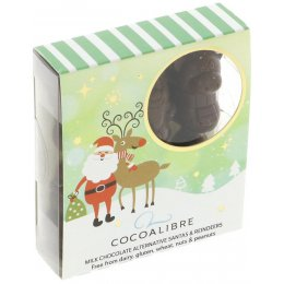 Cocoa Libre Milk Chocolate Alternative Santa & Reindeers - 60g
