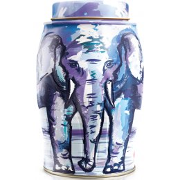 Williamson Elephant Tea Caddy - Painterly Winter  - Earl Grey 40 bags