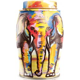 Williamson Elephant Tea Caddy - Painterly Summer  - Lemon & Ginger 40 bags