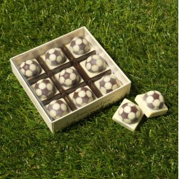 Handmade Chocolate Footballs x 9