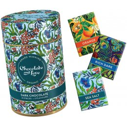 Chocolate & Love Gift Tin - Dark Chocolate - 3 Flavours - 30 x 5.5g