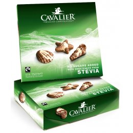 Cavalier Stevia Fairtrade Chocolate Seashells - 125g